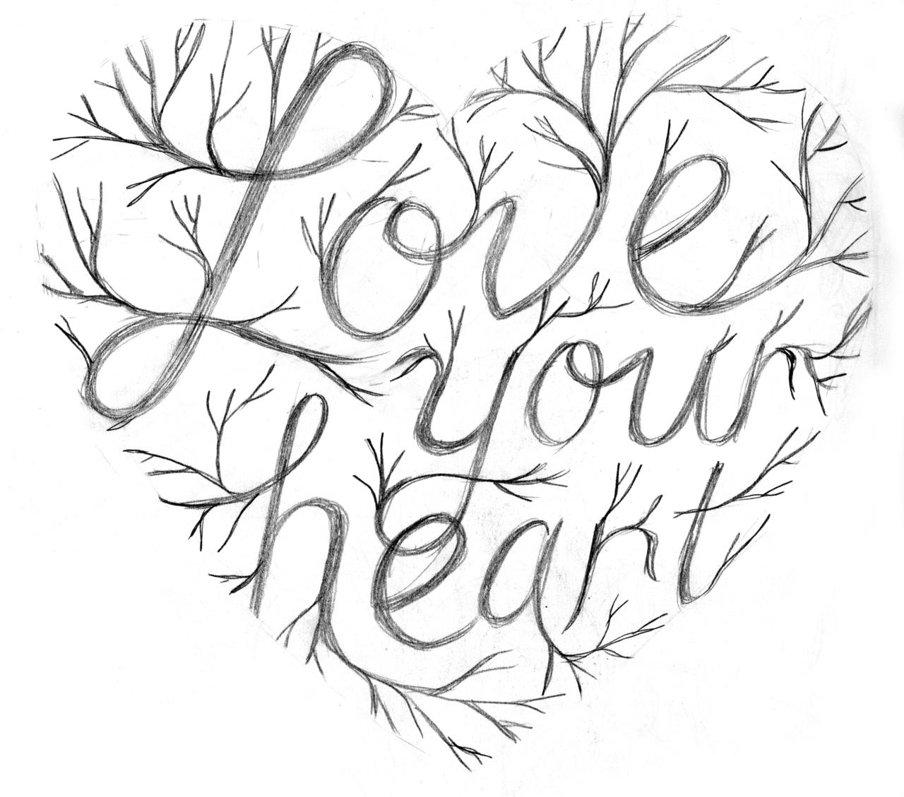 1280x1129 Heart Drawing Tumblr