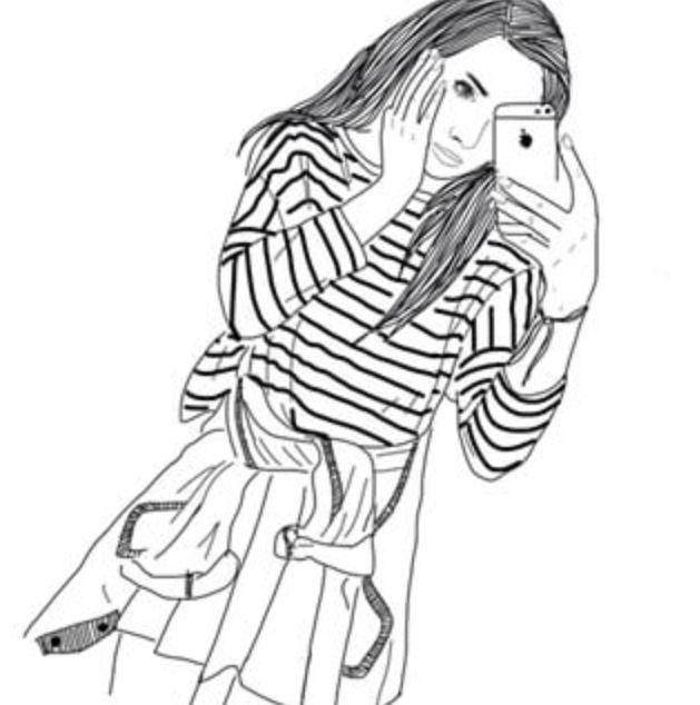 629x634 Drawn Girl Grunge