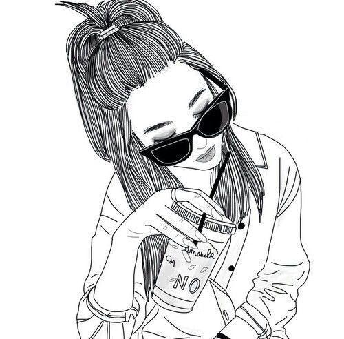 500x492 Resultado De Imagen Para Outlines Drawing Tumblr Ariana