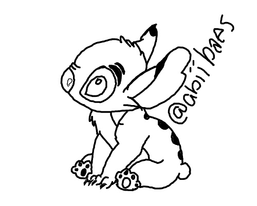 500x402 Stitch Is Bae! Drawing Tumblr Outline Disney Liloandst