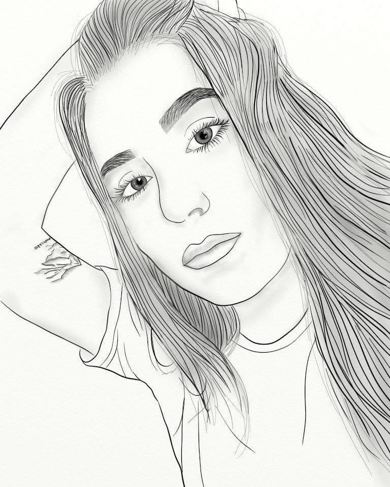 768x960 Girl Outline Hashtag Images On Tumblr