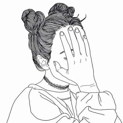 500x500 Tumblr Outline Drawing Blackandwhite On Instagram