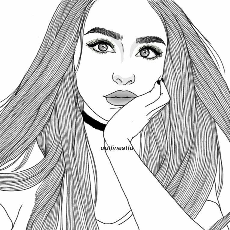 Tumblr Portrait Drawing At Getdrawings Com Free For Personal Use