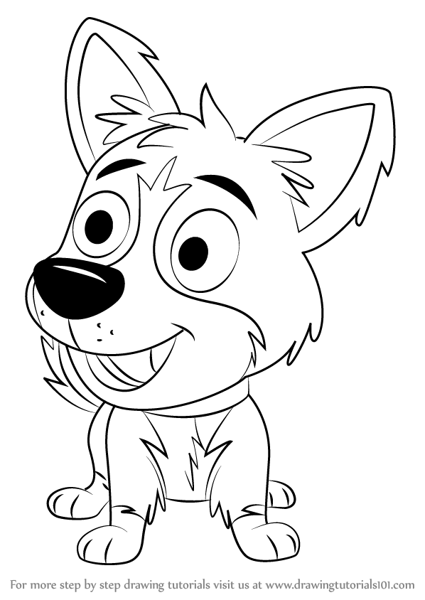 598x844 Learn How To Draw Tundra From Pound Puppies (Pound Puppies) Step