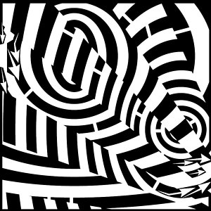 300x300 Double Tunnel Vision Maze Drawing By Yonatan Frimer Maze Artist