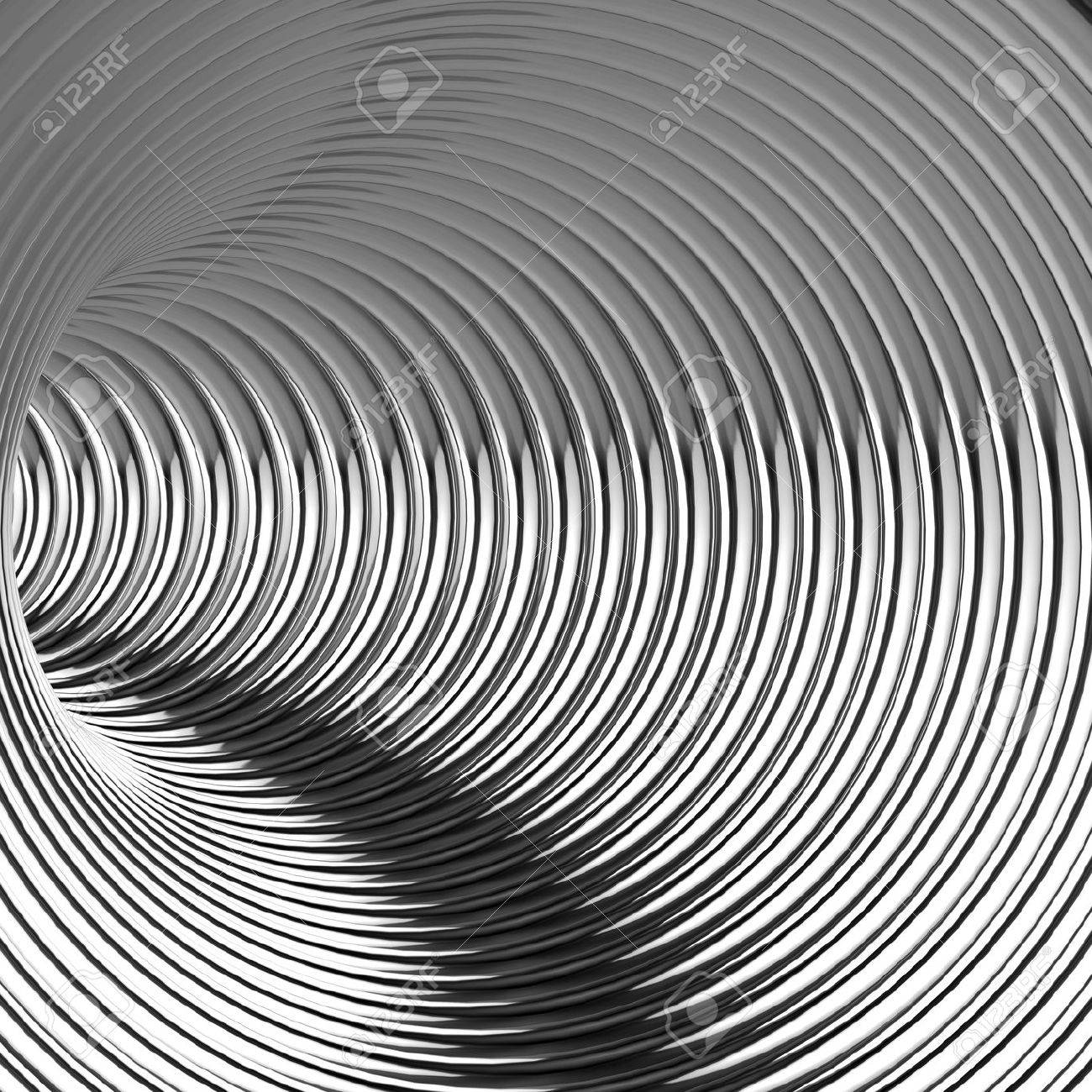 1300x1300 3d Render Of The Interior Of A Futuristic Steel Coil Tunnel Stock