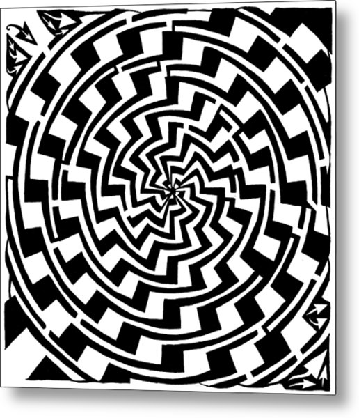 516x600 Gradient Tunnel Spin Maze Drawing By Yonatan Frimer Maze Artist
