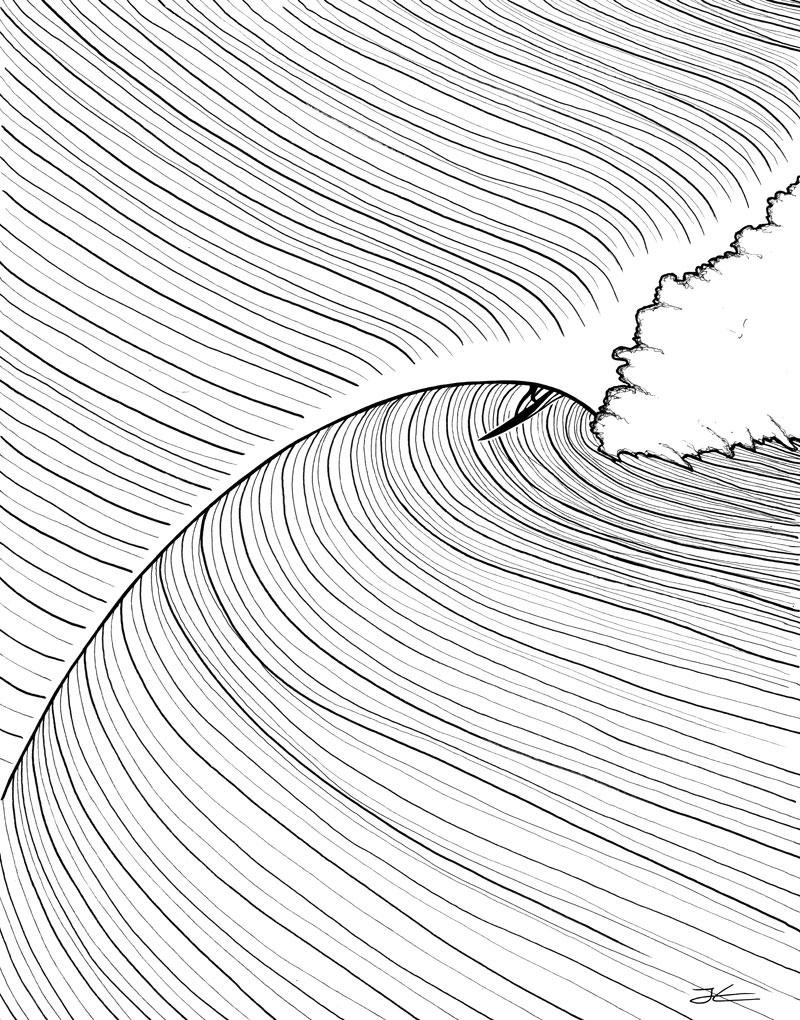 800x1020 Tunnel Vision Illustration Surf Illustrations