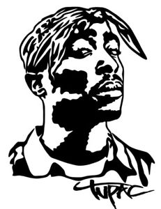 231x300 Tupac Shakur Vinyl Decal Sticker Bumper Wall Car 2pac Makaveli Hip