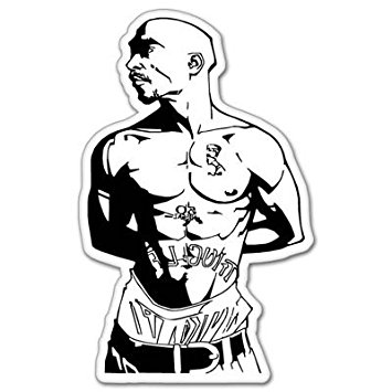 355x355 Tupac Shakur Rap Vynil Car Sticker Decal