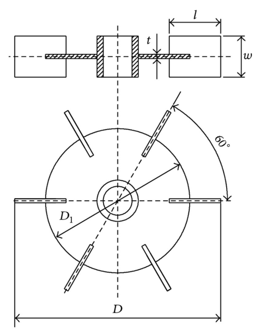 850x1095 Sketch Of Rushton Turbine Impeller, W