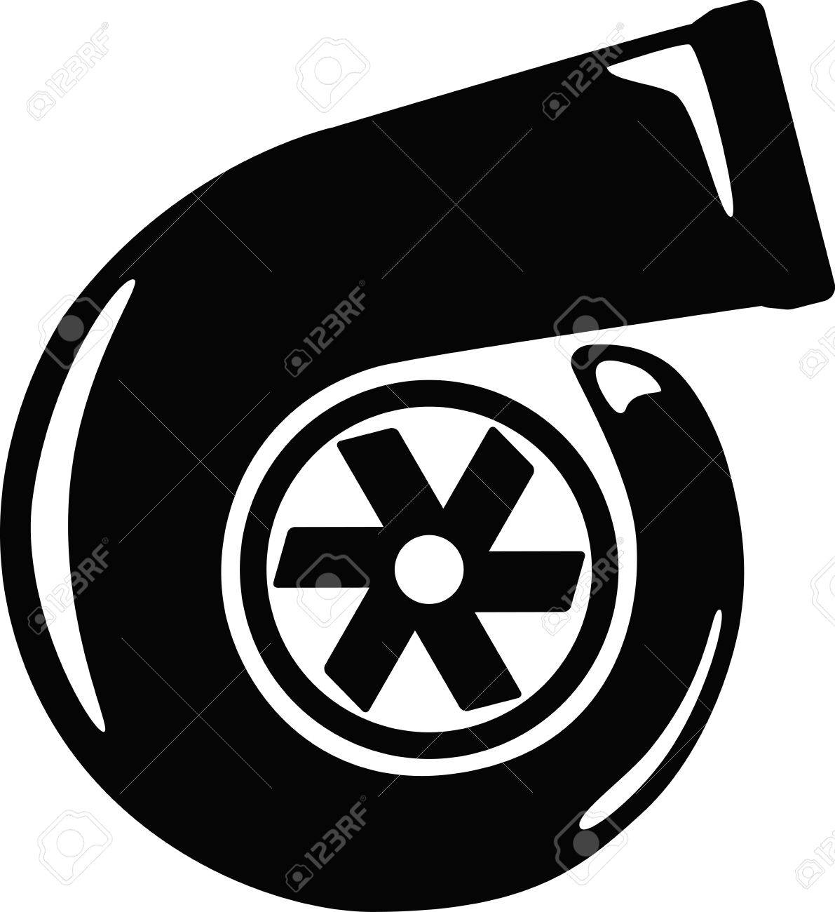 1191x1300 Turbo Charger Vector Illustration Royalty Free Cliparts, Vectors