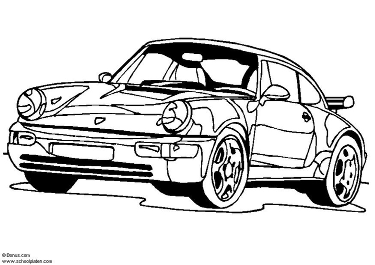 750x531 Coloring Page Porsche 911 Turbo
