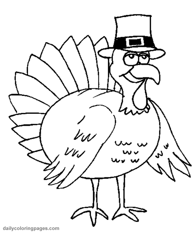 675x813 Coloring Pages Turkey Cartoon