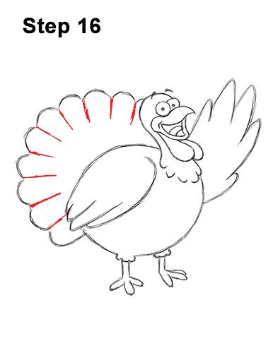 386x500 How To Draw A Turkey (Cartoon)
