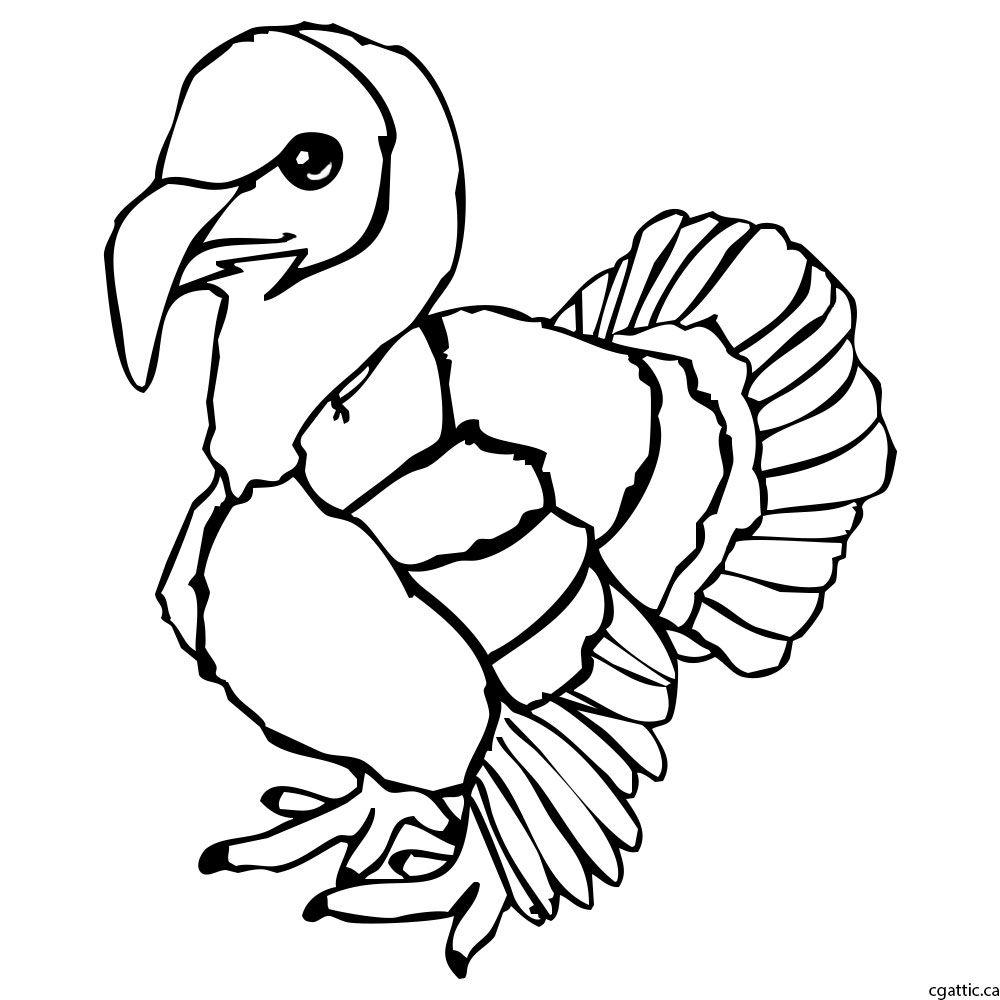 1000x1000 Turkey Cartoon Drawing In 4 Steps With Photoshop Turkey Cartoon