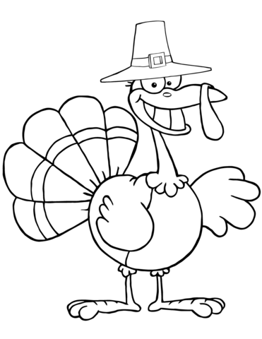 371x480 Cartoon Pilgrim Turkey Coloring Page Free Printable Coloring Pages