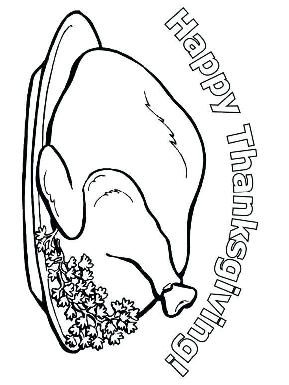 580x772 Dinner Coloring Pages Thanksgiving Meal Coloring Pages