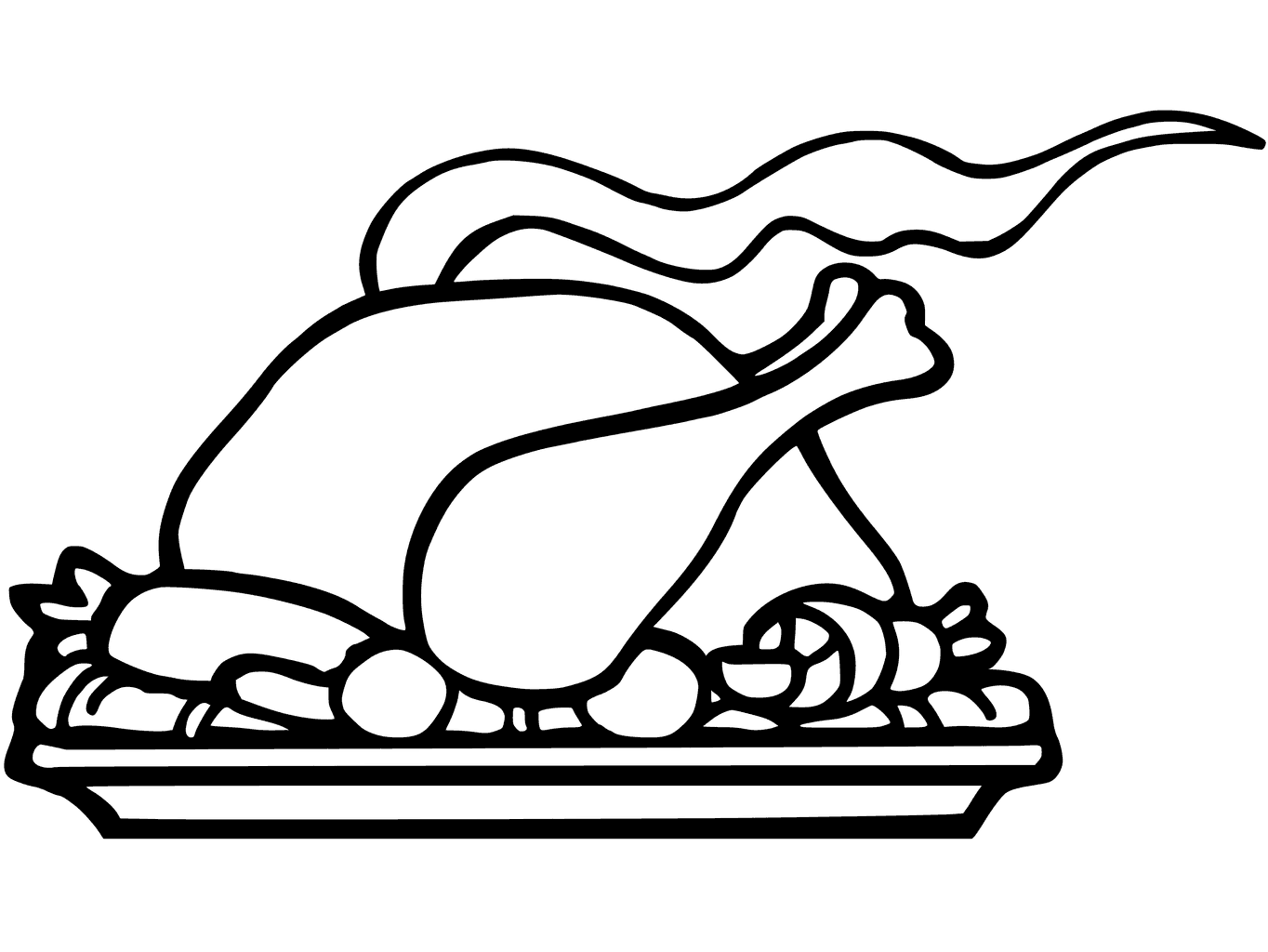 Turkey Dinner Drawing at GetDrawings.com | Free for personal use ...