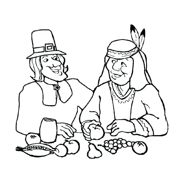 600x600 Thanksgiving Dinner Coloring Pages Thanksgiving Day Dinner