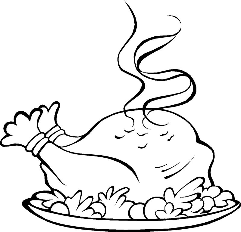 800x771 Thanksgiving Dinner Coloring Pages
