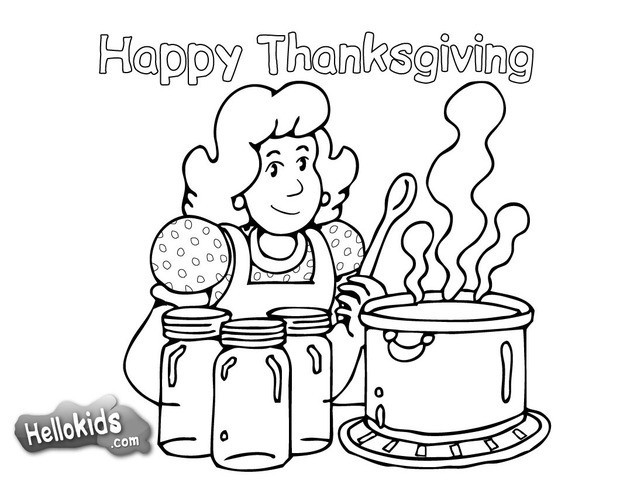620x480 Thanksgiving Dinner Coloring Pages