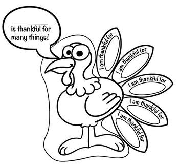 350x324 Thanksgiving Activity Thankful Turkey Tpt