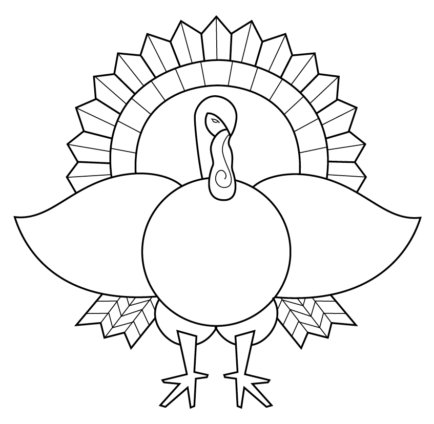 847x828 Turkey Coloring Page Art Lessons And Artsy