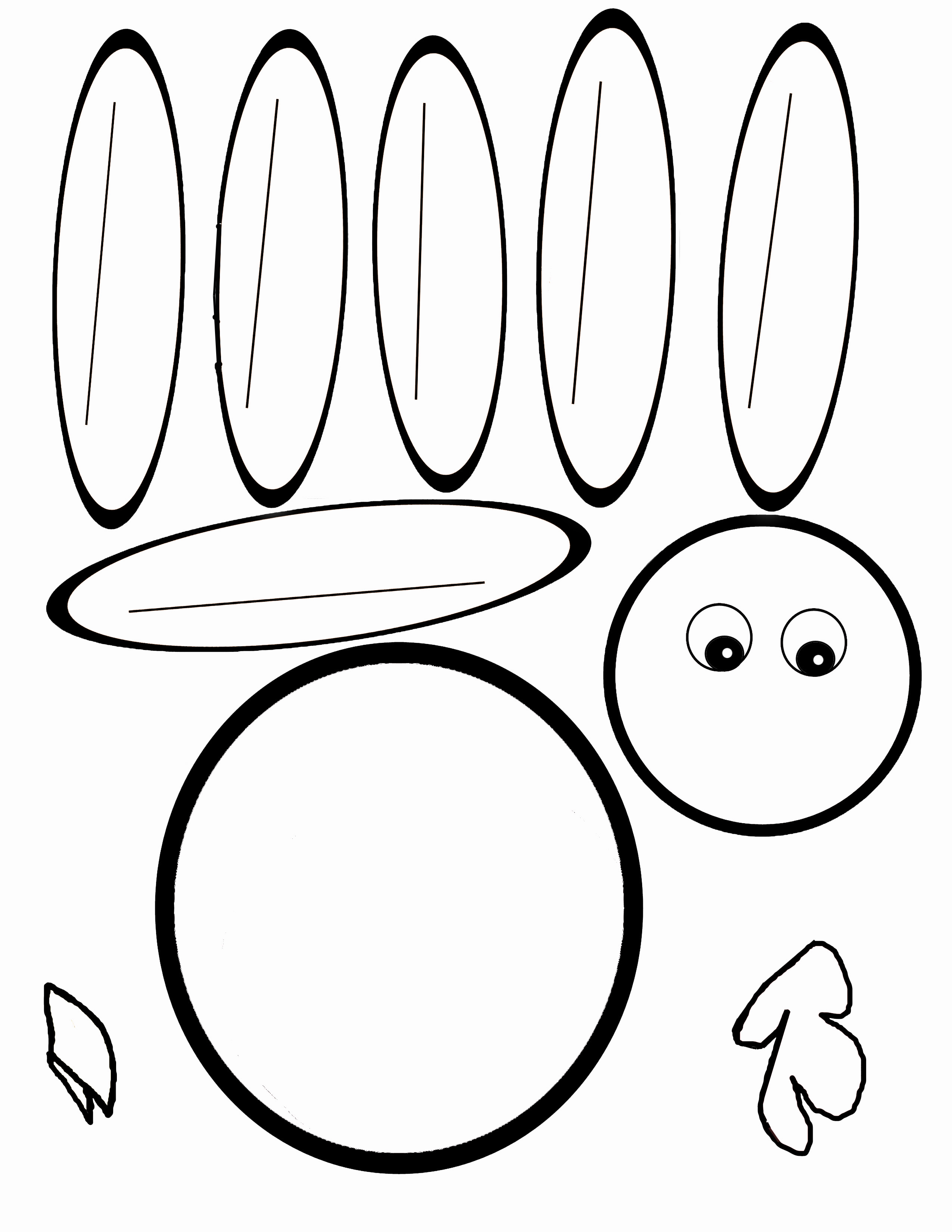 2550x3300 Hand Turkey Drawing Templates Happy Easter Amp Thanksgiving 2018