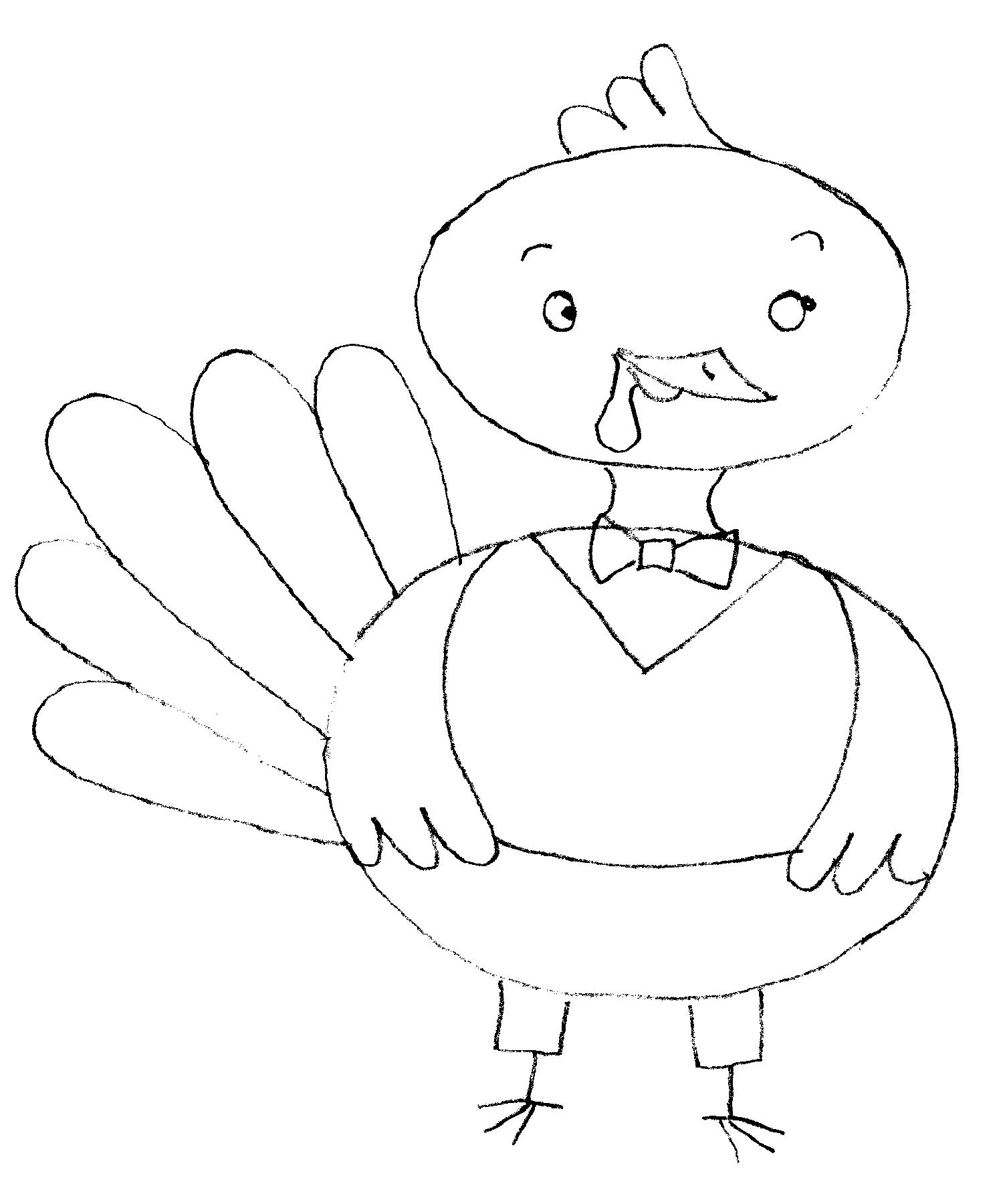 1500x1800 How To Draw A Turkey