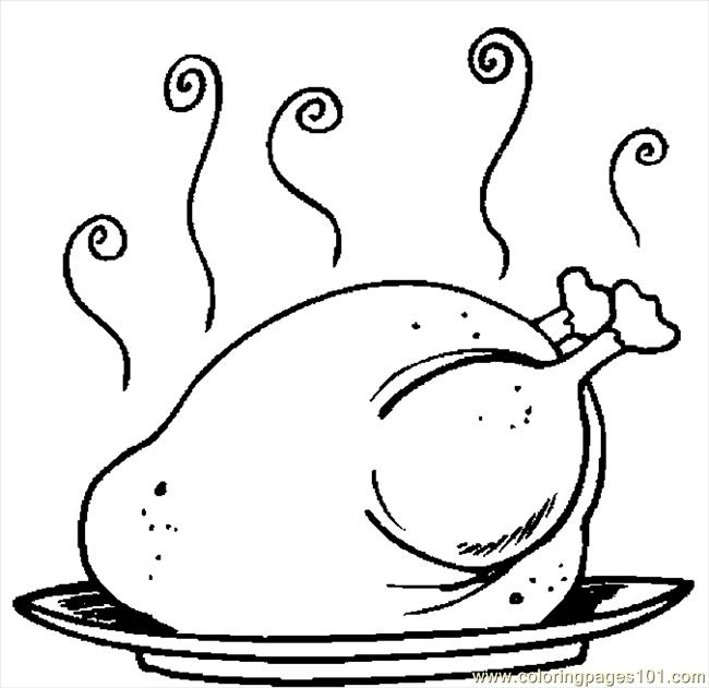 650x631 Cooked Turkey Drawing Free Download