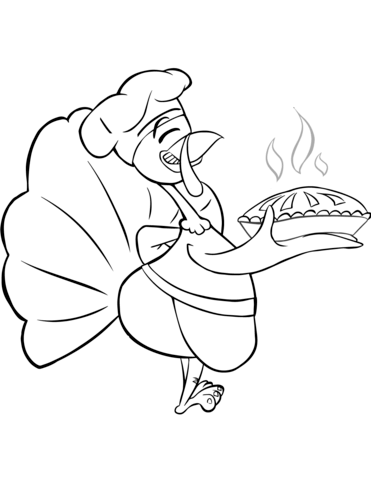371x480 Cartoon Turkey Chef Coloring Page Free Printable Coloring Pages