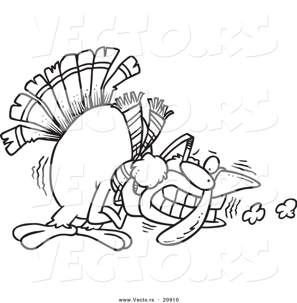 1024x1044 Vector Of A Cartoon Shivering Cold Turkey