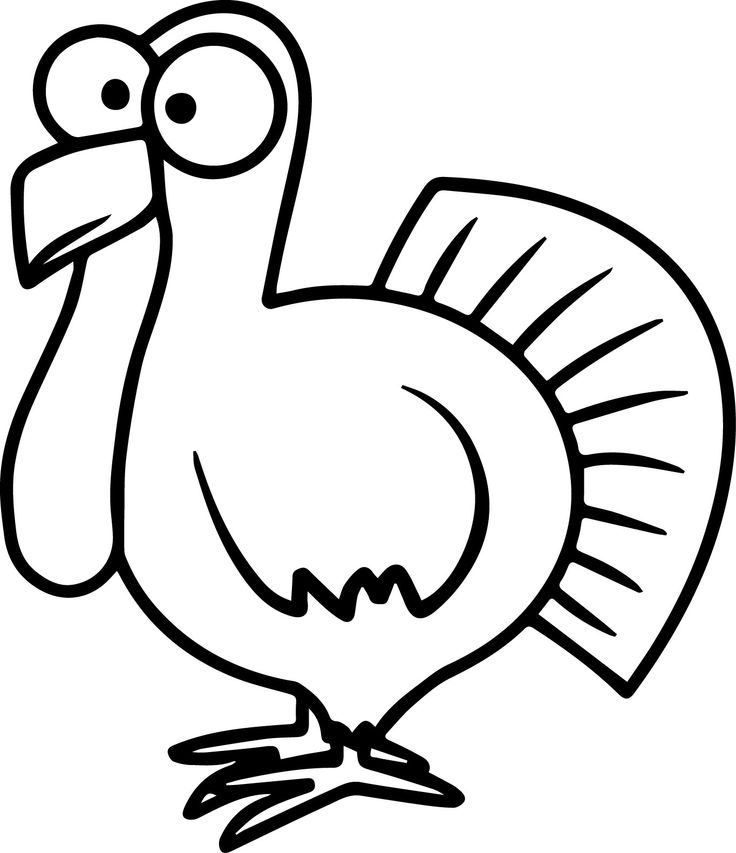 736x853 Easy Drawings Of Turkeys Drawn Turkey How To Draw A Pencil And