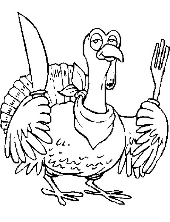 570x744 free coloring sheets for thanksgiving - Free Coloring Pages Of Turkeys 3