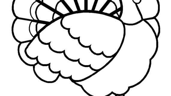 570x320 Simple Drawing Of Turkey Simple Turkey Drawing How To Draw