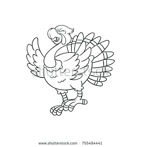 450x470 Turkey Coloring Coloring Pages Easy Turkey Coloring Page
