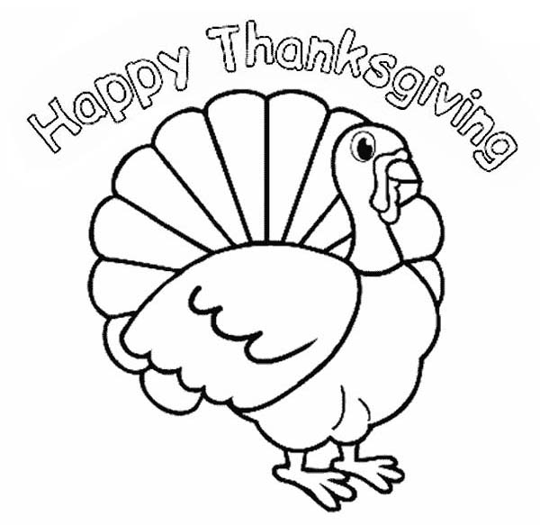 Amazing 600x583 Coloring Pages Thanksgiving Coloring Pages Easy Happy Day 01