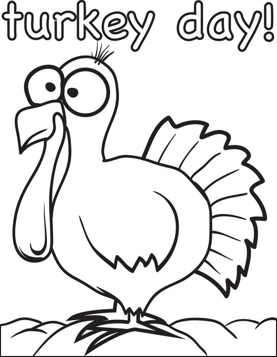 543x700 FREE Printable Thanksgiving Turkey Coloring Page For Kids