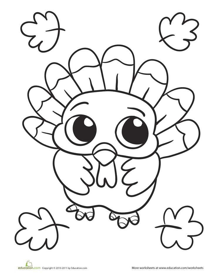 736x941 Coloring Pages Cute A Turkey For Thanksgiving