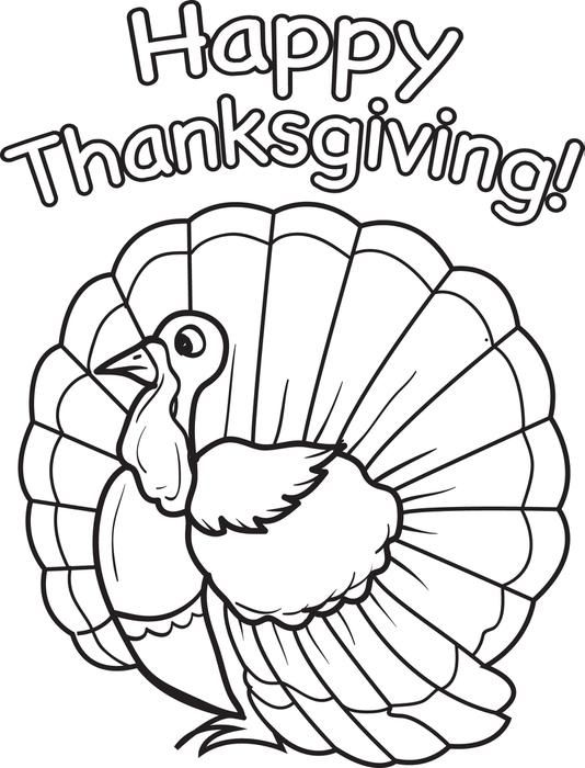 534x700 Free Turkey Coloring Pages For Kids Marvelous Printable