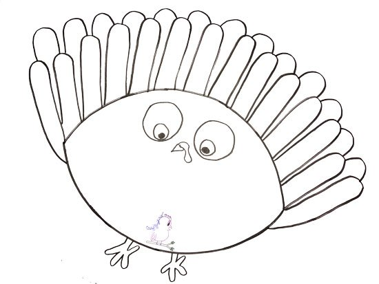 Turkey Drawing Outline