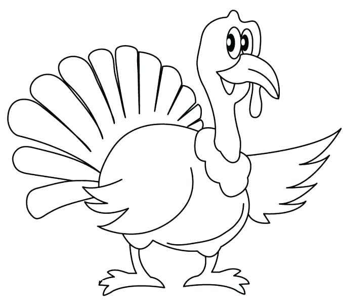 678x600 Minimalist Turkey Coloring Page New Free Pages Easy For Colored
