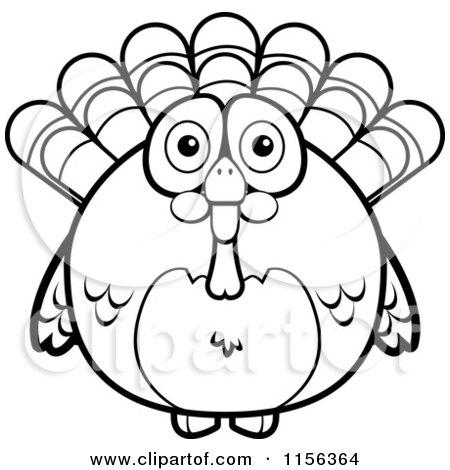 450x470 Royalty Free (Rf) Clipart Illustration Of Turkey Bird Doing
