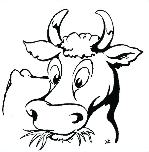 600x611 Coloring Page Cow Cow Printable Coloring Pages Download Cattle