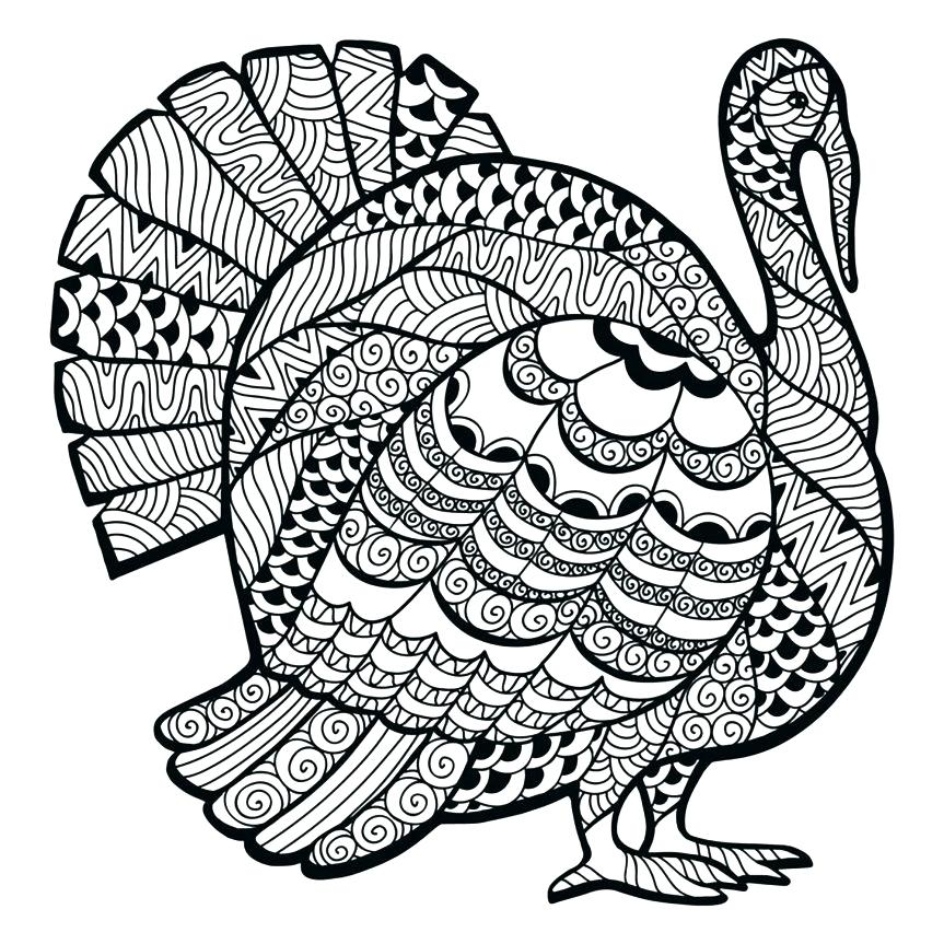 863x863 Free Turkey Coloring Page Free Turkey Coloring Pages