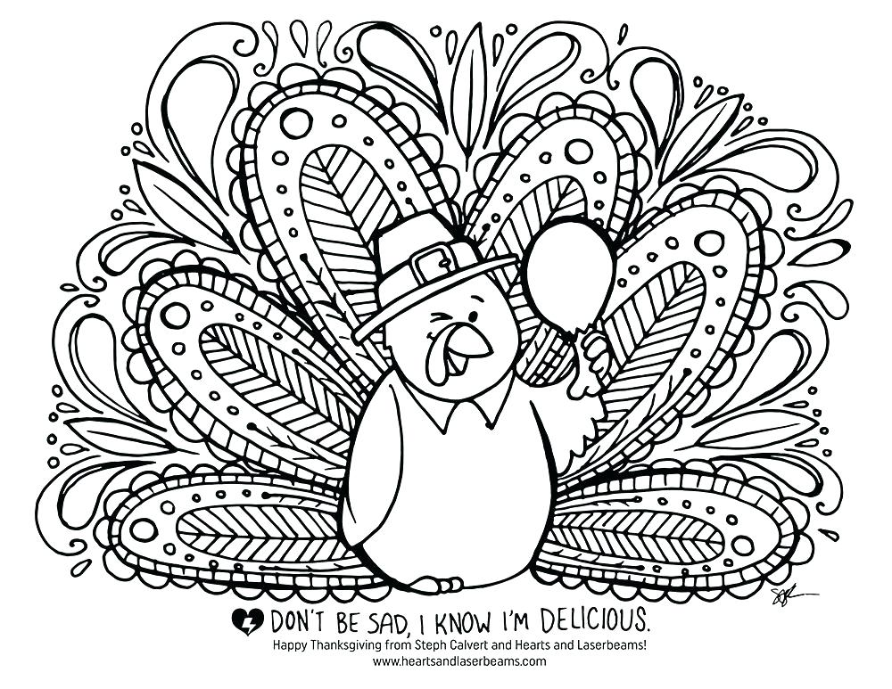 1000x773 Turkey Coloring Pages Free Printable Free Printable Turkey Feather