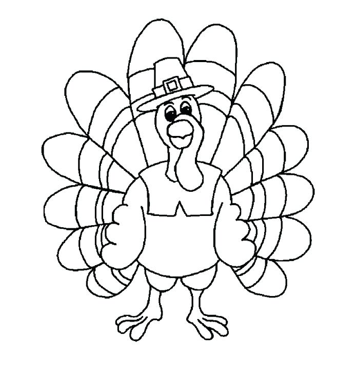 692x733 Turkey Coloring Pages Printable Free Astounding Thanksgiving