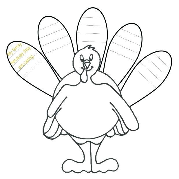 618x616 Free Turkey Template