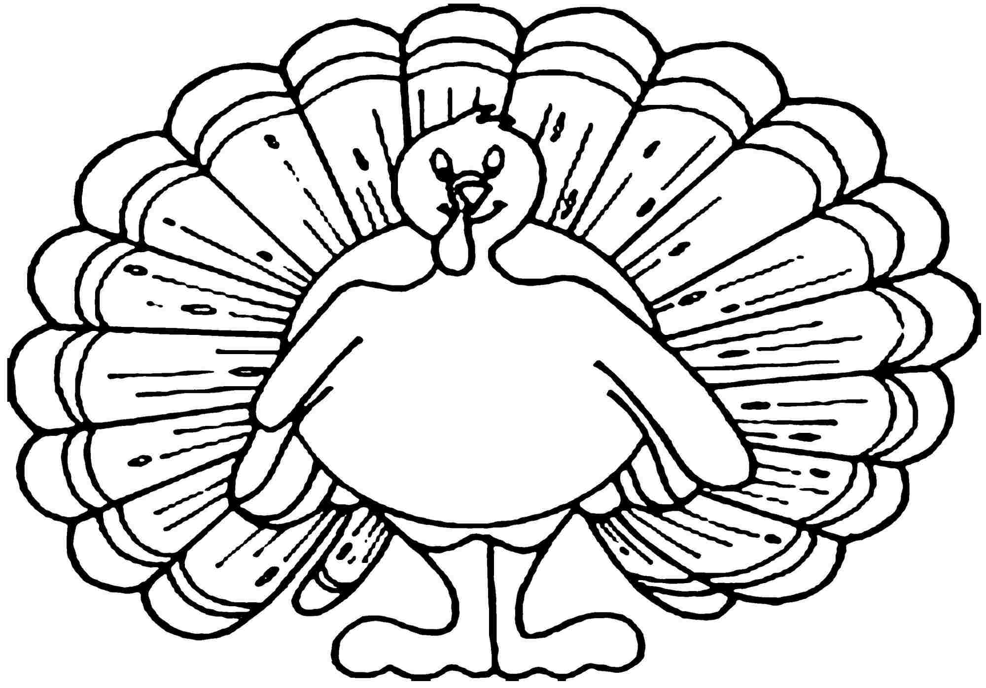 2000x1397 Turkey Coloring Pages For Kids At Page Glum Me Best Of Printable